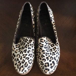 Sperry Calf Skin Leather Cheetah Pattern SZ 9M
